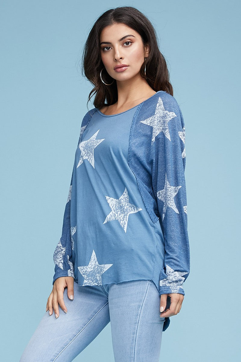Superstar Blue Top - Jacqueline B Clothing