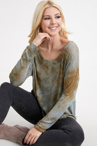 Cloud Dye Top - Jacqueline B Clothing