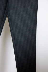 Pattern Legging Black/Navy Mini Check - Jacqueline B Clothing