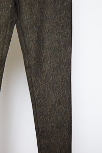 Pattern Legging Black Gold Lines - Jacqueline B Clothing