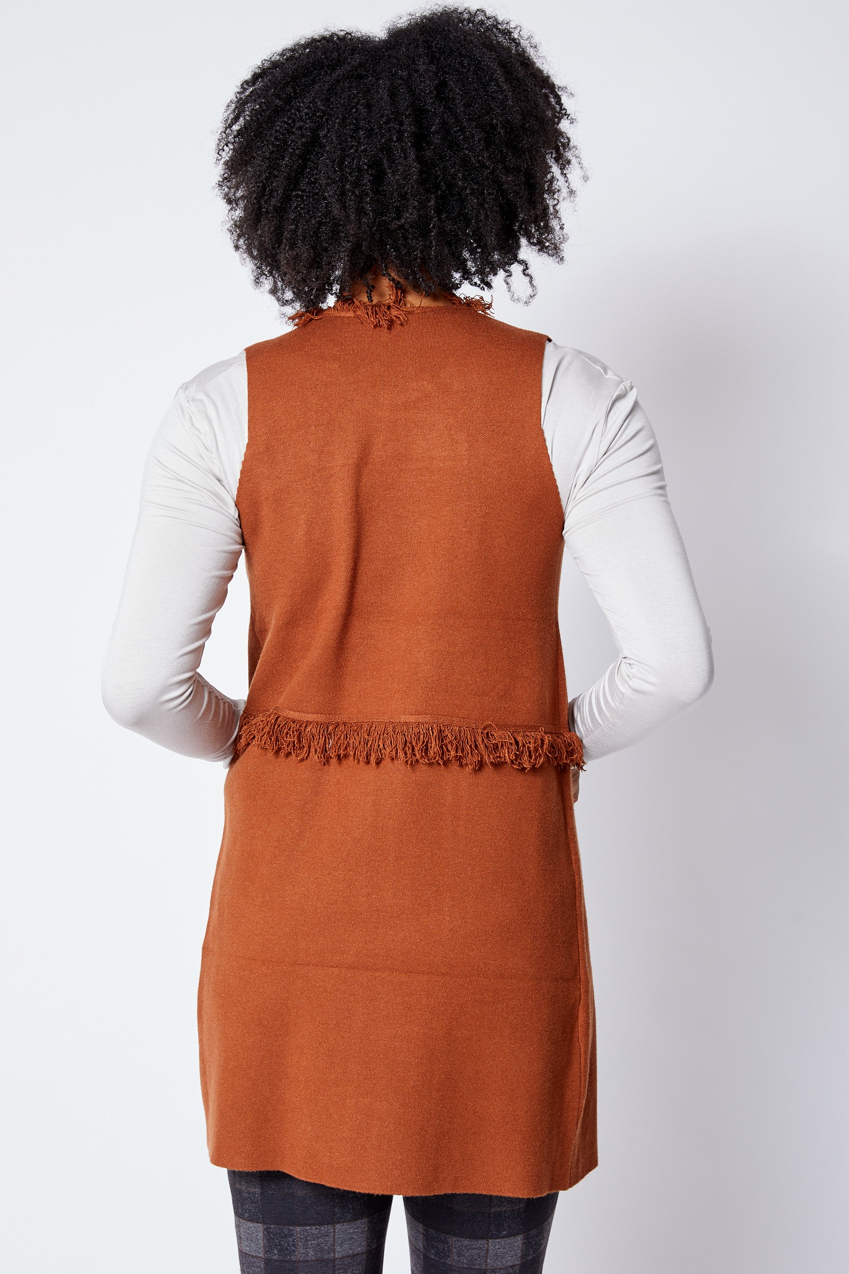 Fringe Sweater Vest - Jacqueline B Clothing