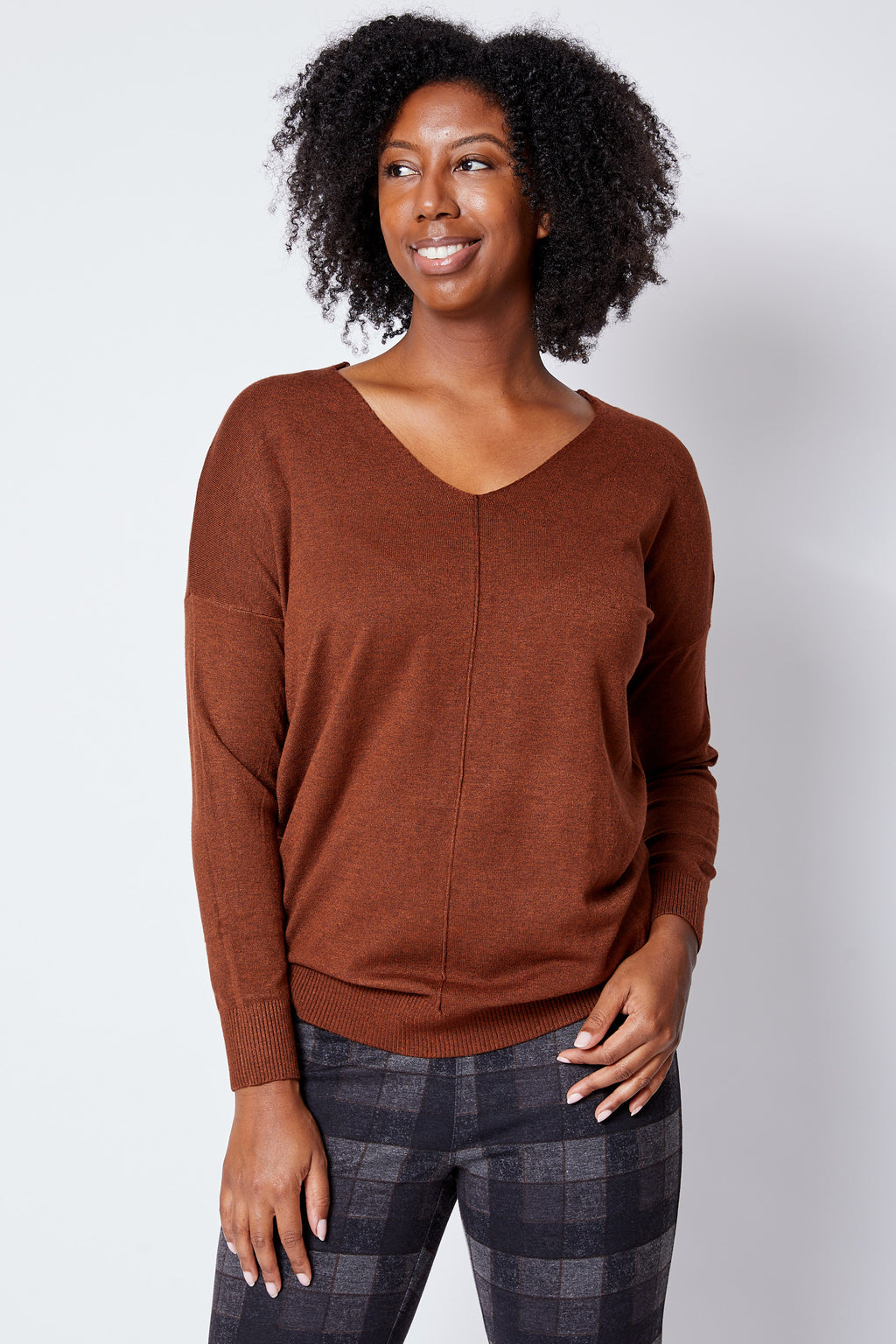 V-Neck Yummy Sweater - Jacqueline B Clothing