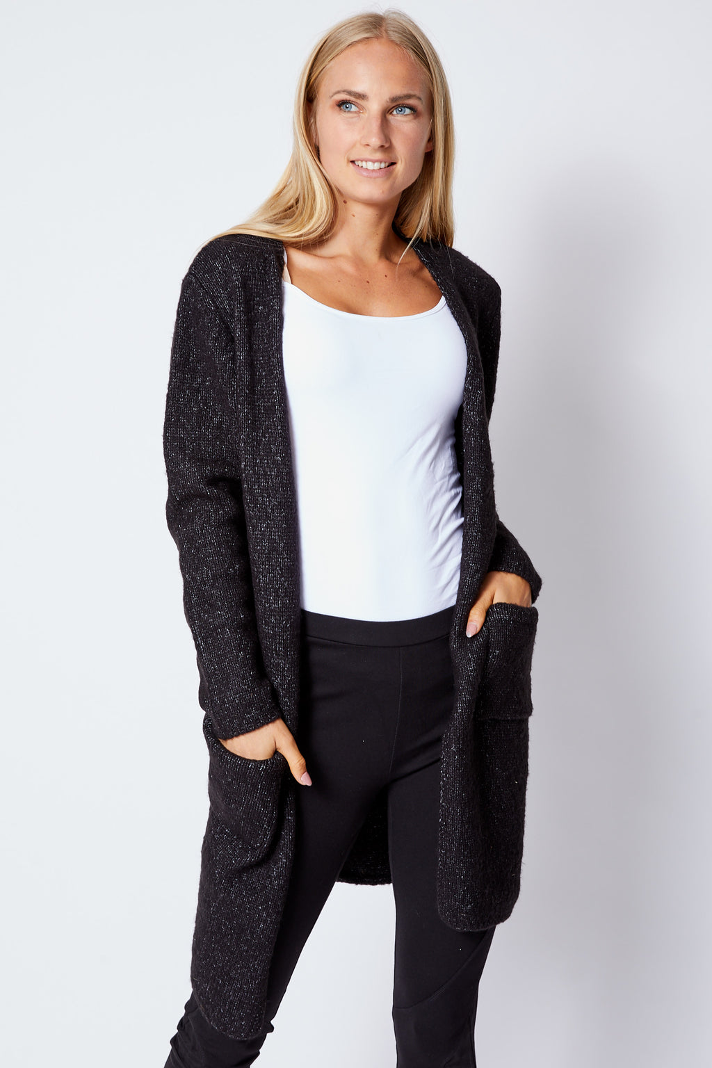 Black Tweed Sweater - Jacqueline B Clothing