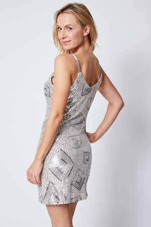 Diamond Sequin Dress - Jacqueline B Clothing