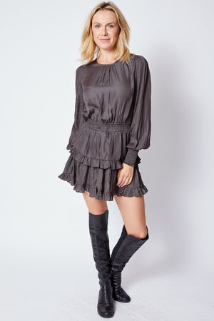 Long Sleeve Dress w/ Double Layer - Jacqueline B Clothing