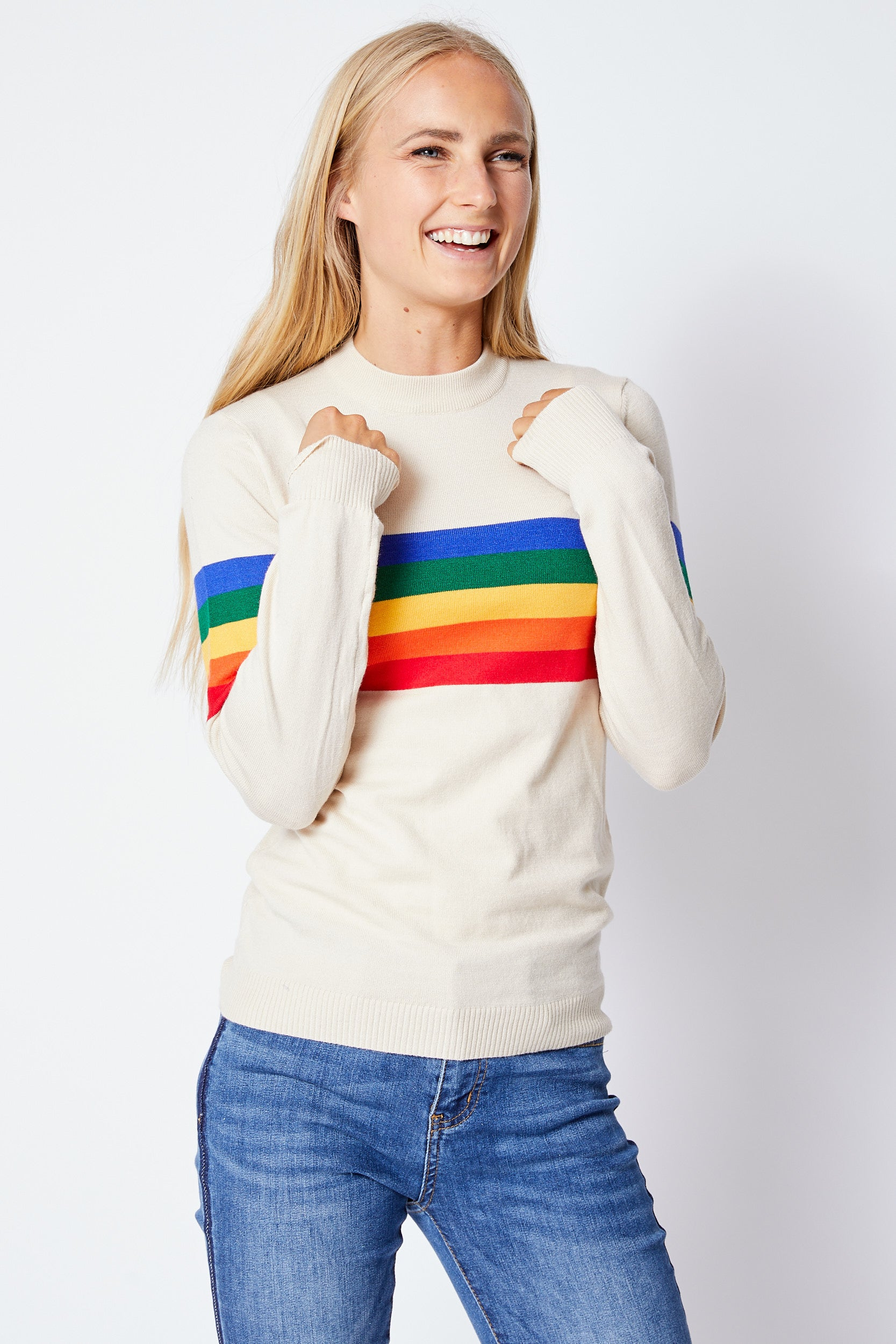 Rainbow Sweater - Jacqueline B Clothing
