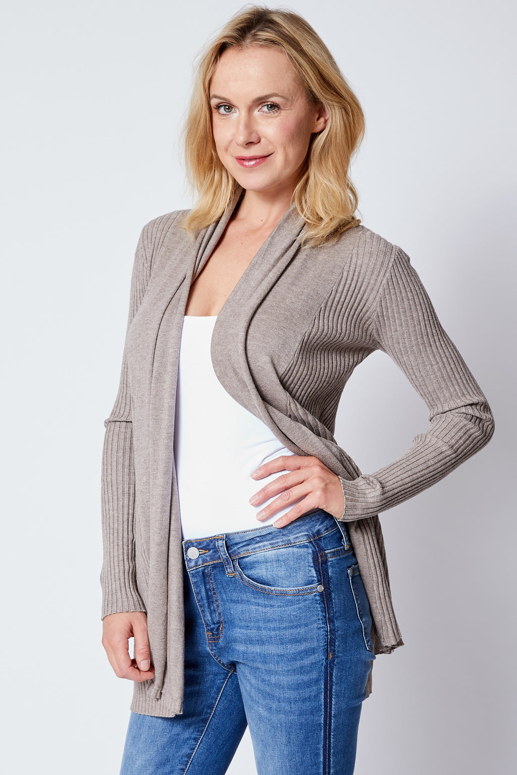 Yummy Ribbed Cardigan - Jacqueline B Clothing