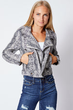 Snakeskin Jacket - Jacqueline B Clothing