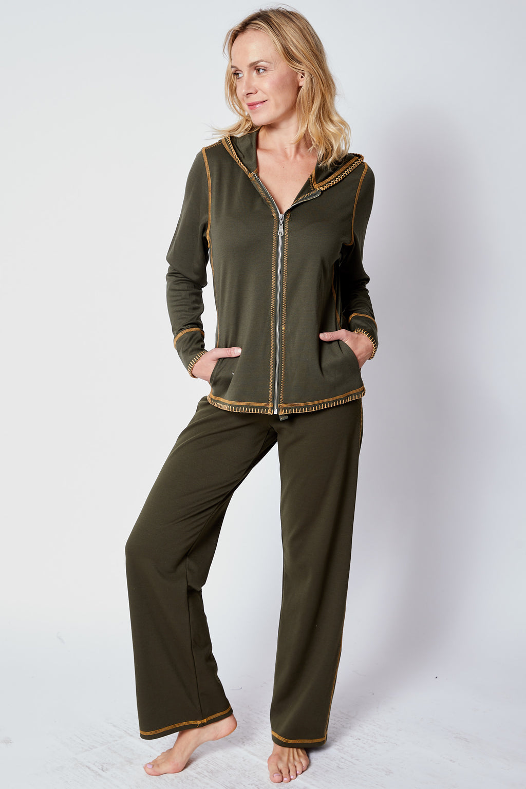 Olive Sweats - Jacqueline B Clothing