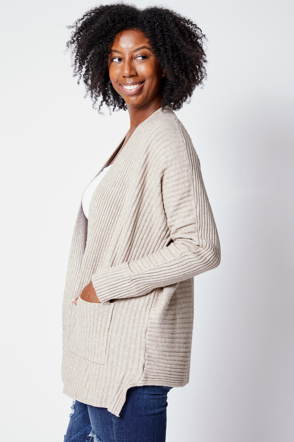 Cardigan w/ Pocket - Jacqueline B Clothing
