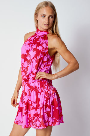 Playful Halter Dress - Jacqueline B Clothing