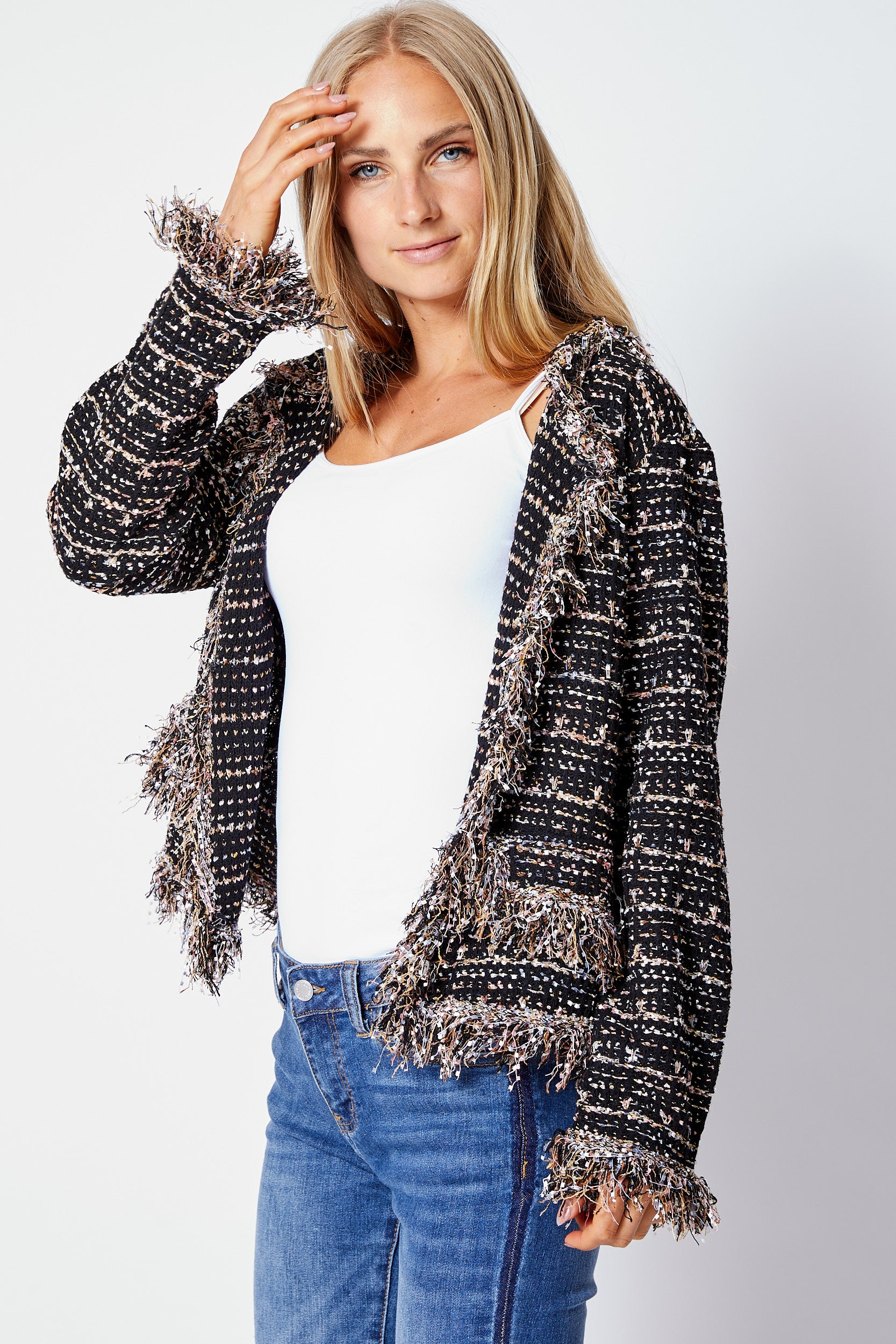 Knit Tweed Jacket - Jacqueline B Clothing