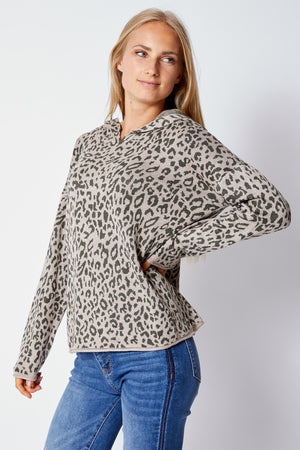 Leopard Hoodie Sweater - Jacqueline B Clothing
