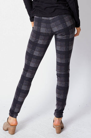 Brown Check Leggings - Jacqueline B Clothing