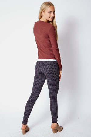 Red, Black and Gray Leggings - Jacqueline B Clothing