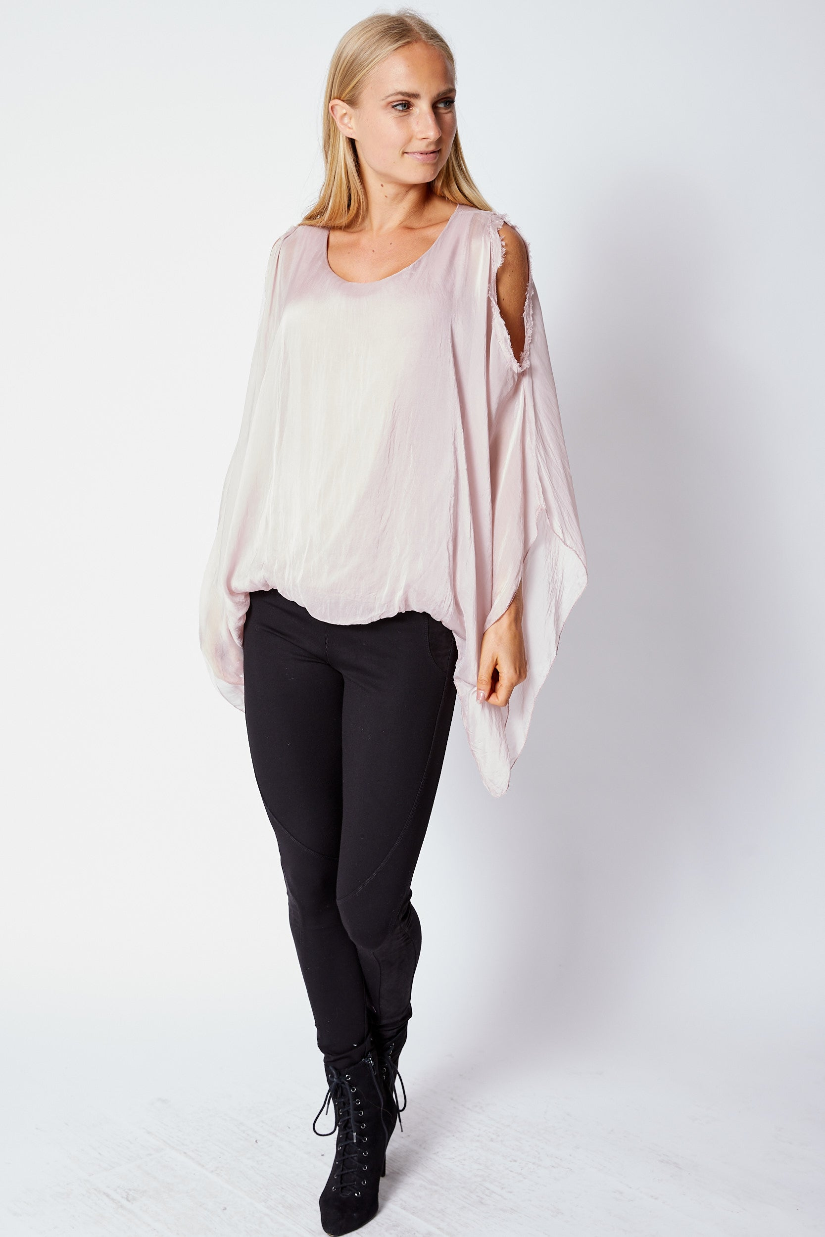 Italian Silk Cold Should Top - Jacqueline B Clothing