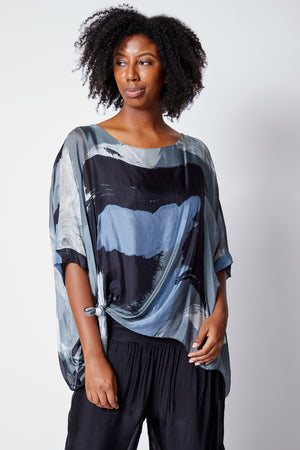 Italian Silk Flowing Top - Jacqueline B Clothing