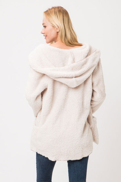 Fluffy Jacket - Jacqueline B Clothing
