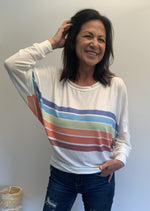 Cali Vintage-Style Rainbow Long Sleeve - Jacqueline B Clothing
