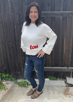 Bell Sleeve Sweater w/ Love Patch - Jacqueline B Clothing