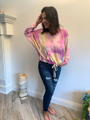 Pastel Cloud Dyed Hoodie - Jacqueline B Clothing