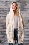 Hooded Embroidered Jacket - Jacqueline B Clothing
