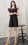 Multi Color Flutter Sleeve Dress - Jacqueline B Clothing