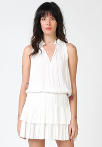 Sleeveless Pleated Short Dress - Jacqueline B Clothing