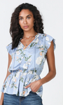 Short Sleeve Floral Print Top - Jacqueline B Clothing