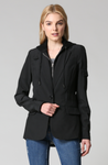 Zip-Out Hoodie Jacket Solid Black - Jacqueline B Clothing