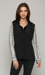 Zip-Out Hoodie Black White Snake Jacket - Jacqueline B Clothing