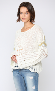 Lightweight Open Knit Sweater - Jacqueline B Clothing