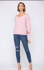 Lightweight Pom-Pom Sweater - Jacqueline B Clothing
