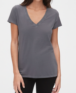 Fabulous Fit V Neck Short Sleeve T-Shirt - Jacqueline B Clothing