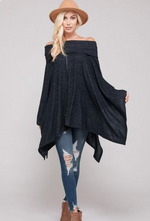 Off The Shoulder Poncho - Jacqueline B Clothing