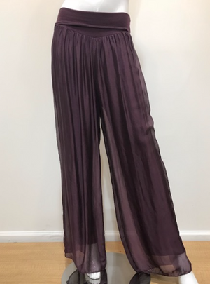Italian Silk Pants - Jacqueline B Clothing