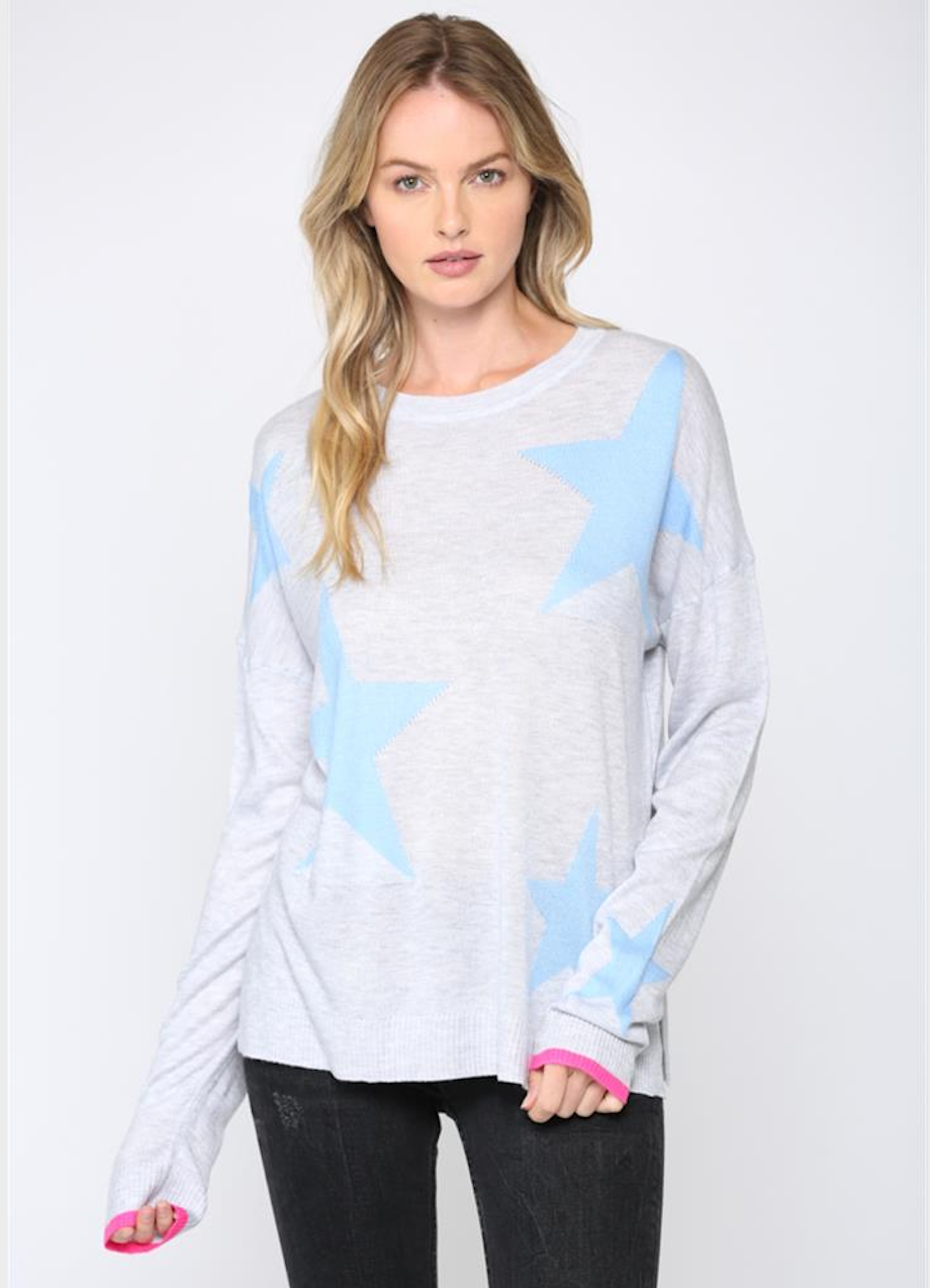 Pastel Star Sweater