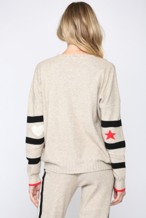 Stripe Sweater w/ Star Sleeve