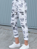 Super -stretch Italian Pant White camo