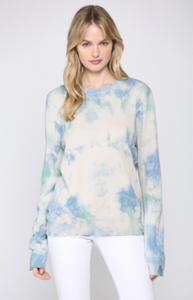 Cloud Dye Blue Sweater