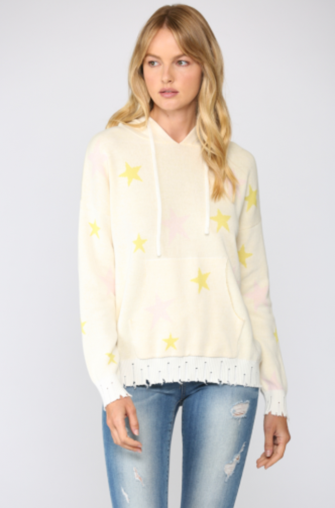 Hoodie Sweater with Yellow Stars