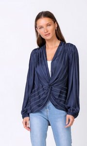 Twist Front Top - Jacqueline B Clothing