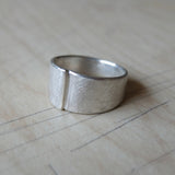nishnabotna jewelry, sterling silver overlapped narrow cigar ring