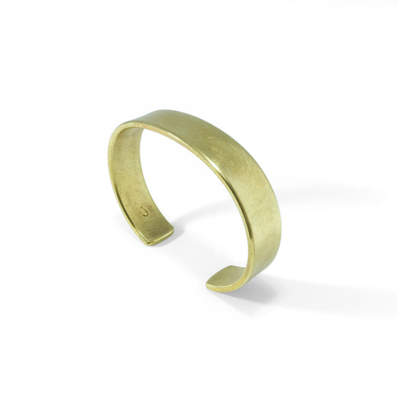nishnabotna jewelry, minimal, simple brass cuff bracelet