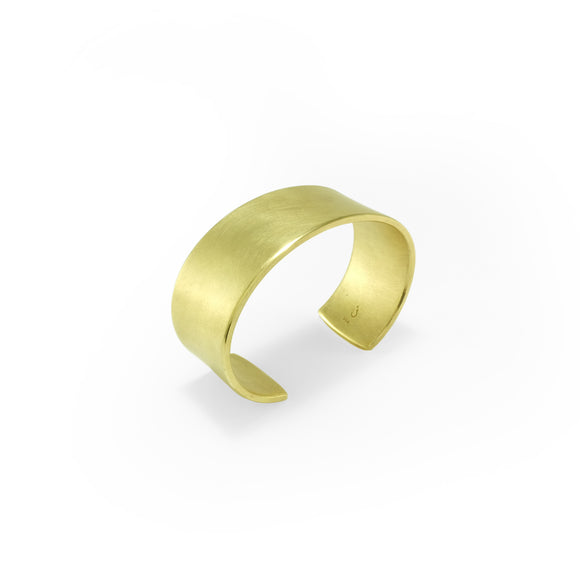 nishnabotna jewelry, minimal, simple, wide brass cuff bracelet
