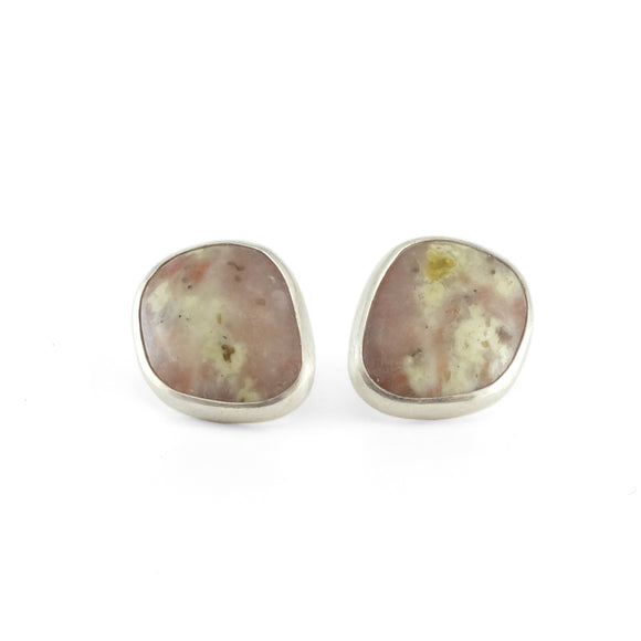 nishnabotna silver botna purple jasper stud earrings