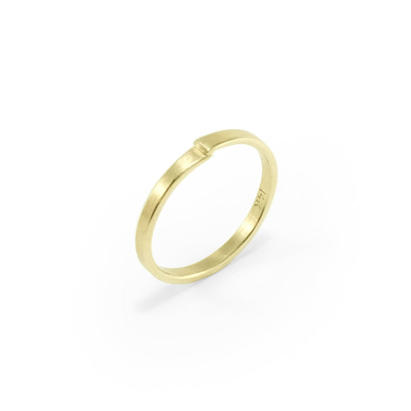 nishnabotna jewelry 14k gold overlapped boyer ring