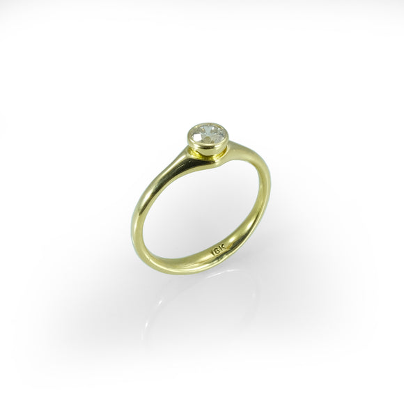 nisnabotna 18k gold brilliant diamond ring