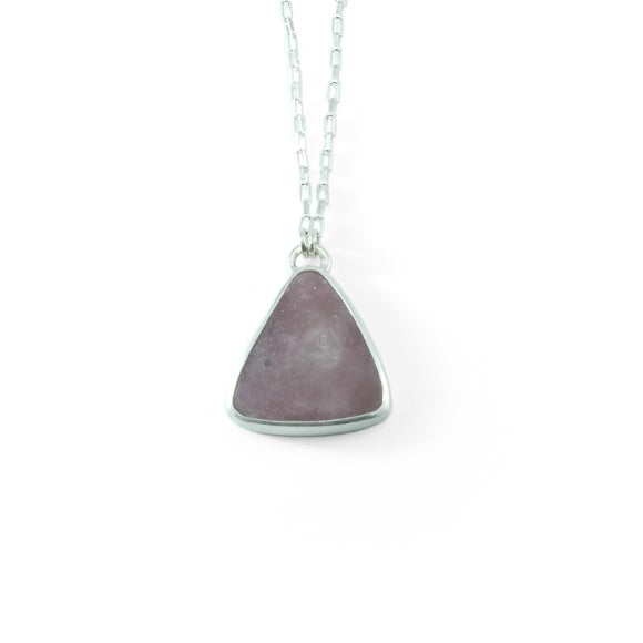 nishnabotna silver necklace with pink tourmaline
