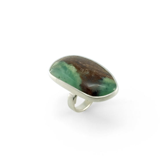 nishnabotna silver boyer ring with chalcedony